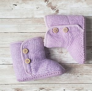 UGG Baby Purple Knit Boots